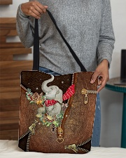 All I Want For Christmas Leather Pattern Print All-over Tote aos-all-over-tote-lifestyle-front-10