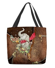 All I Want For Christmas Leather Pattern Print All-over Tote back