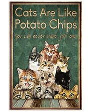 Cats are like potato chips 11x17 Poster front