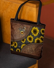 Just a girl who loves sunflower Leather pattern All-over Tote aos-all-over-tote-lifestyle-front-02