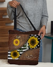 Sunflower Leather Pattern Print All-over Tote aos-all-over-tote-lifestyle-front-10