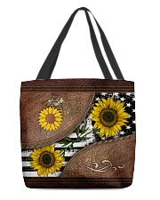 Sunflower Leather Pattern Print All-over Tote back