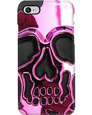 Pink Skull Metal Pattern Print Phone Case i-phone-8-case