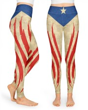 Puerto Rican Flag  High Waist Leggings front