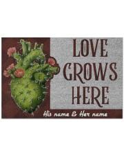 """Love Grows Here Doormat 22.5"""" x 15""""  front"""