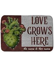 Love Grows Here Bath Mat tile