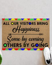 """All Our Visitors coir pattern print  Doormat 22.5"""" x 15""""  aos-doormat-22-5x15-lifestyle-front-06"""