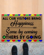 """All Our Visitors coir pattern print  Doormat 22.5"""" x 15""""  aos-doormat-22-5x15-lifestyle-front-10"""