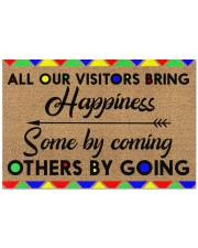 """All Our Visitors coir pattern print  Doormat 22.5"""" x 15""""  front"""