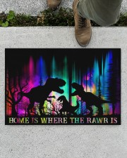 """Home is Where The Rawr Is Doormat 22.5"""" x 15""""  aos-doormat-22-5x15-lifestyle-front-01"""