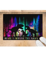 """Home is Where The Rawr Is Doormat 22.5"""" x 15""""  aos-doormat-22-5x15-lifestyle-front-05"""
