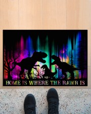"""Home is Where The Rawr Is Doormat 22.5"""" x 15""""  aos-doormat-22-5x15-lifestyle-front-10"""