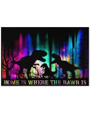 """Home is Where The Rawr Is Doormat 22.5"""" x 15""""  front"""