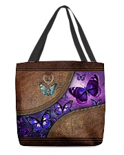 Butterfly leather pattern tote All-over Tote back