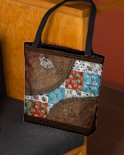 Camping Leather pattern print  All-over Tote aos-all-over-tote-lifestyle-front-02