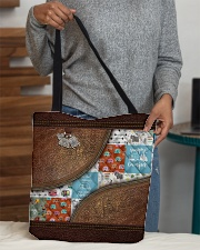 Camping Leather pattern print  All-over Tote aos-all-over-tote-lifestyle-front-10