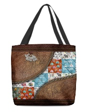 Camping Leather pattern print  All-over Tote front