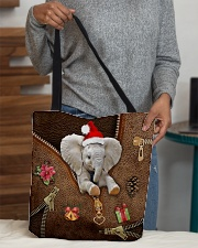 Christmas Leather Pattern Print Tote  All-over Tote aos-all-over-tote-lifestyle-front-10