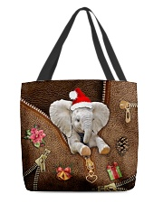 Christmas Leather Pattern Print Tote  All-over Tote back
