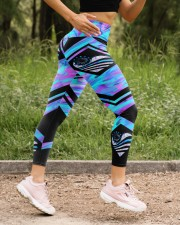 Back The Blue High Waist Leggings aos-high-waist-leggings-lifestyle-15
