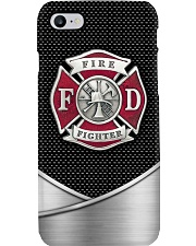 I Love My Firefighters Metal Pattern Print Phone Case i-phone-8-case