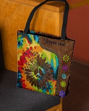 Hippie soul leather pattern All-over Tote aos-all-over-tote-lifestyle-front-02