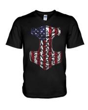 HAMMER - FLAG V-Neck T-Shirt thumbnail