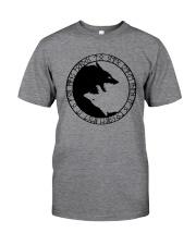 YIN YANG WOLF - VIKING SHIRT Classic T-Shirt thumbnail