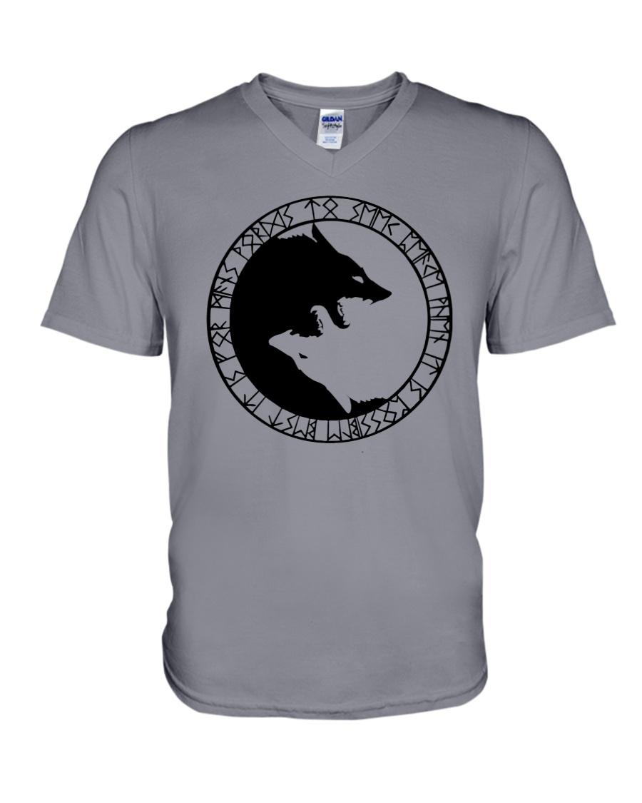 YIN YANG WOLF - VIKING SHIRT V-Neck T-Shirt