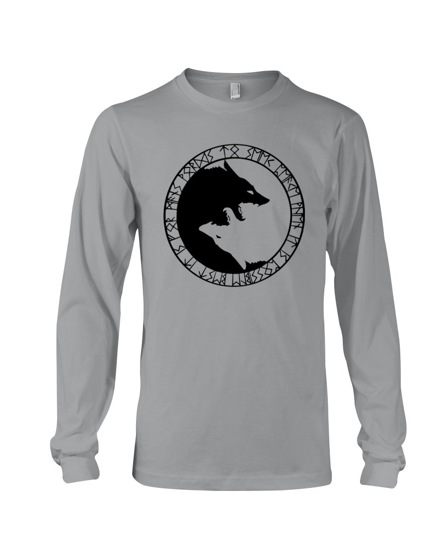 YIN YANG WOLF - VIKING SHIRT Long Sleeve Tee