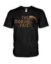 VIKING TEE - NORSE FACE V-Neck T-Shirt thumbnail