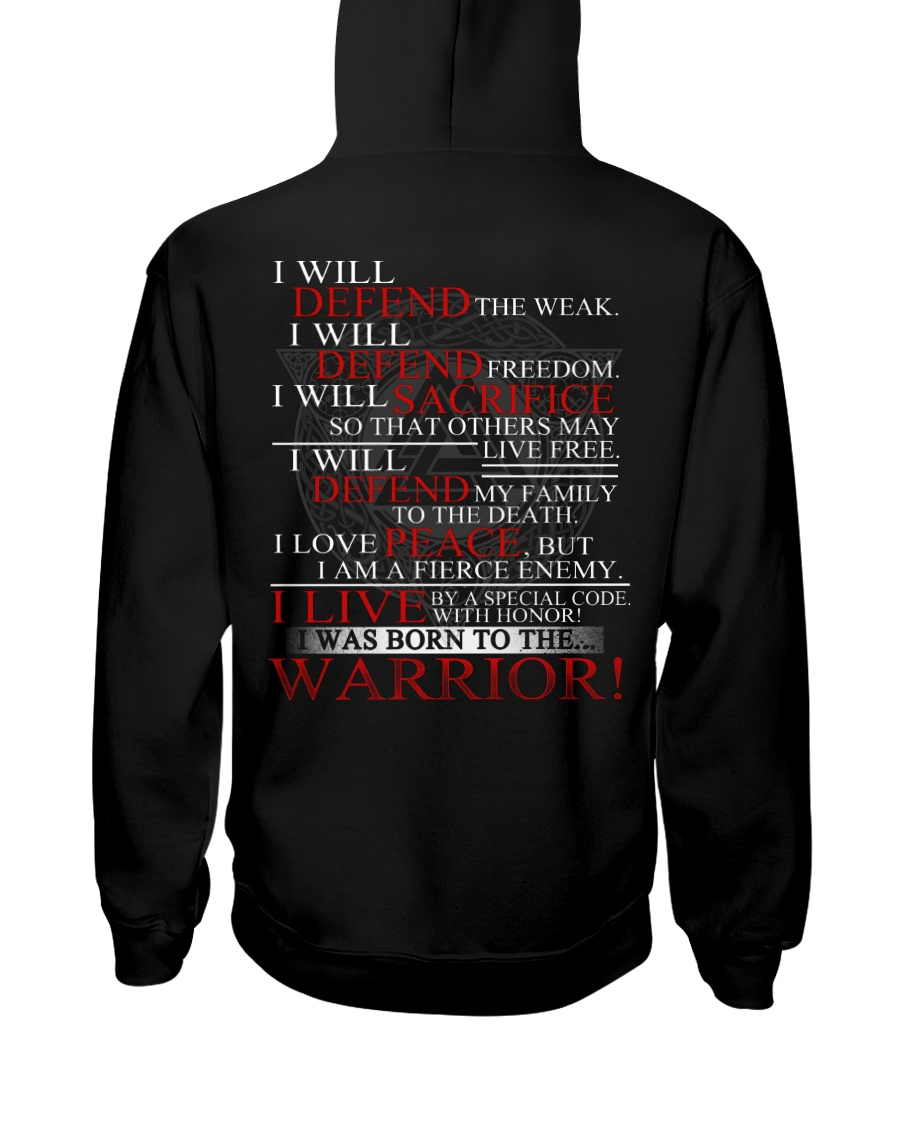 I WAS BORN TO THE WARRIOR - VIKINGZON Hooded Sweatshirt