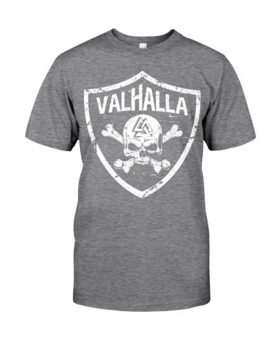Valhalla With Shield Viking - Viking Shirt