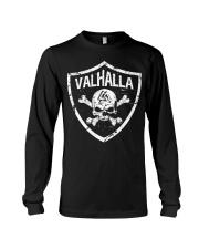 Valhalla With Shield Viking - Viking Shirt Long Sleeve Tee thumbnail