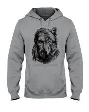 Viking Shirts - Warrior Wolf Valknut Hooded Sweatshirt thumbnail