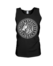 Viking Shirt - Viking Fenrir Wolf And Rune Unisex Tank thumbnail