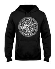 Viking Shirt - Viking Fenrir Wolf And Rune Hooded Sweatshirt thumbnail