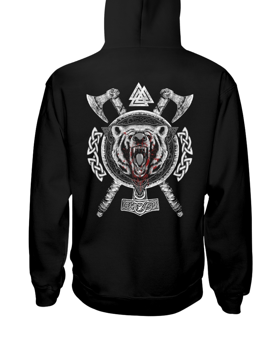 Viking Wolf - Viking Axe Hooded Sweatshirt