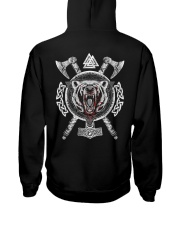 Viking Wolf - Viking Axe Hooded Sweatshirt back
