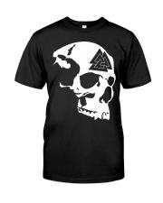 THE VALKNUT SKULL - VIKINGZON Classic T-Shirt front