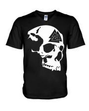 THE VALKNUT SKULL - VIKINGZON V-Neck T-Shirt thumbnail