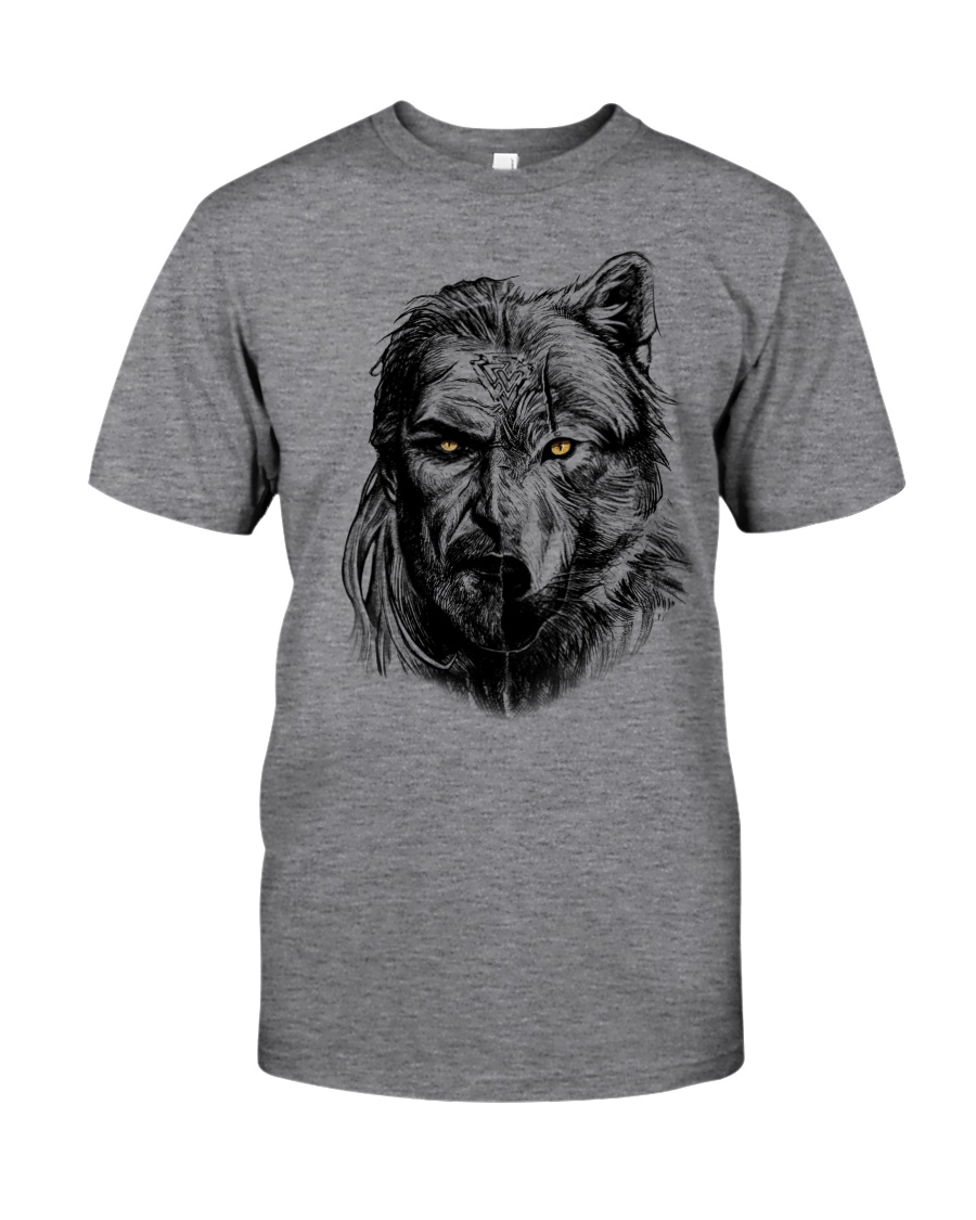 Warrior and Wolf - Viking Shirt Classic T-Shirt
