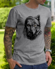 Warrior and Wolf - Viking Shirt Classic T-Shirt lifestyle-mens-crewneck-front-7