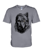 Warrior and Wolf - Viking Shirt V-Neck T-Shirt thumbnail