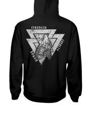Honor - Strength - Loyalty Hooded Sweatshirt back