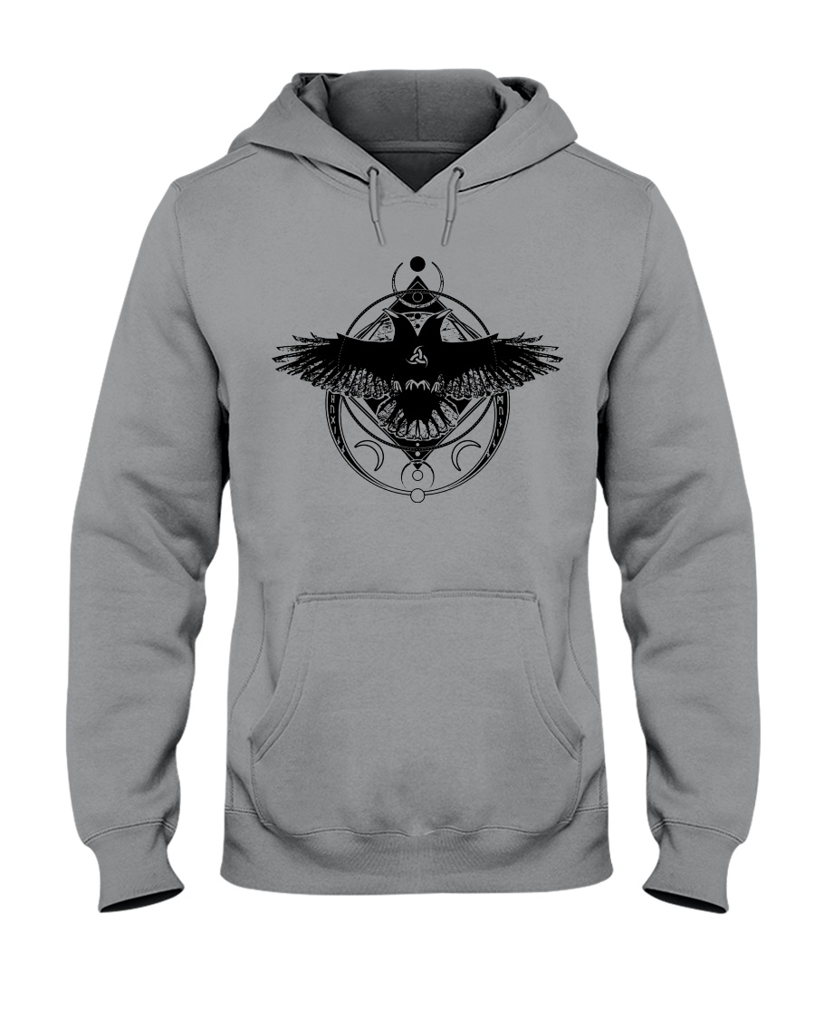 Raven Viking Symbol - Viking Shirt Hooded Sweatshirt