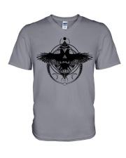 Raven Viking Symbol - Viking Shirt V-Neck T-Shirt thumbnail