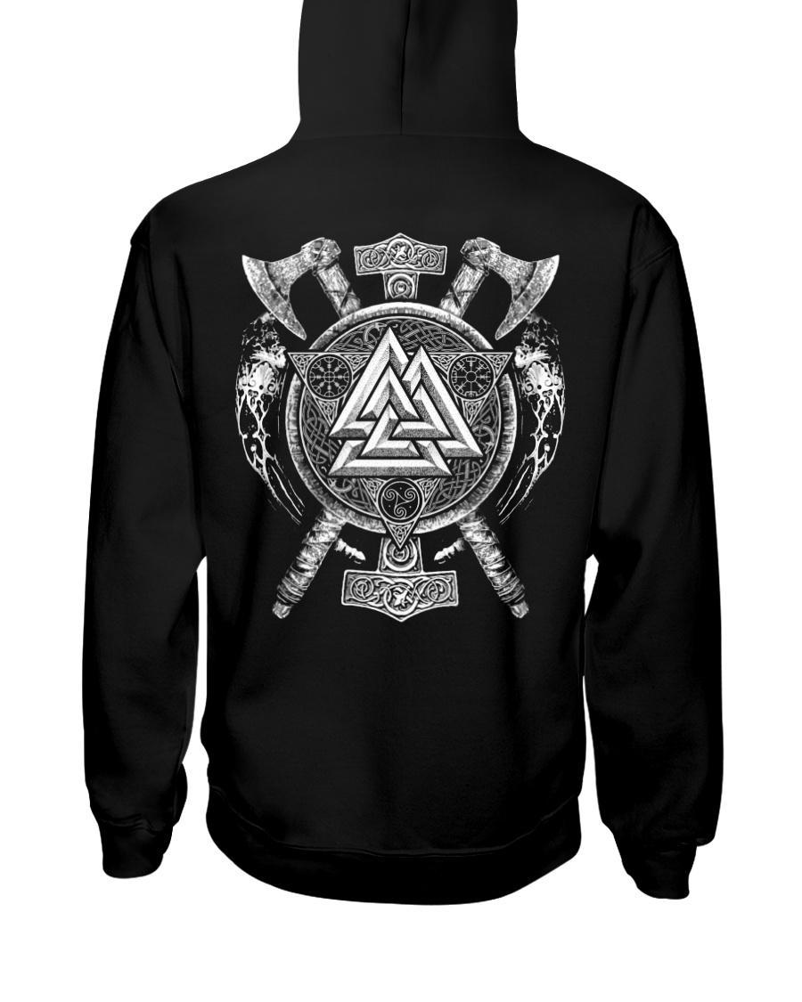 Viking Symbol And Axe - Viking Hoodie Hooded Sweatshirt