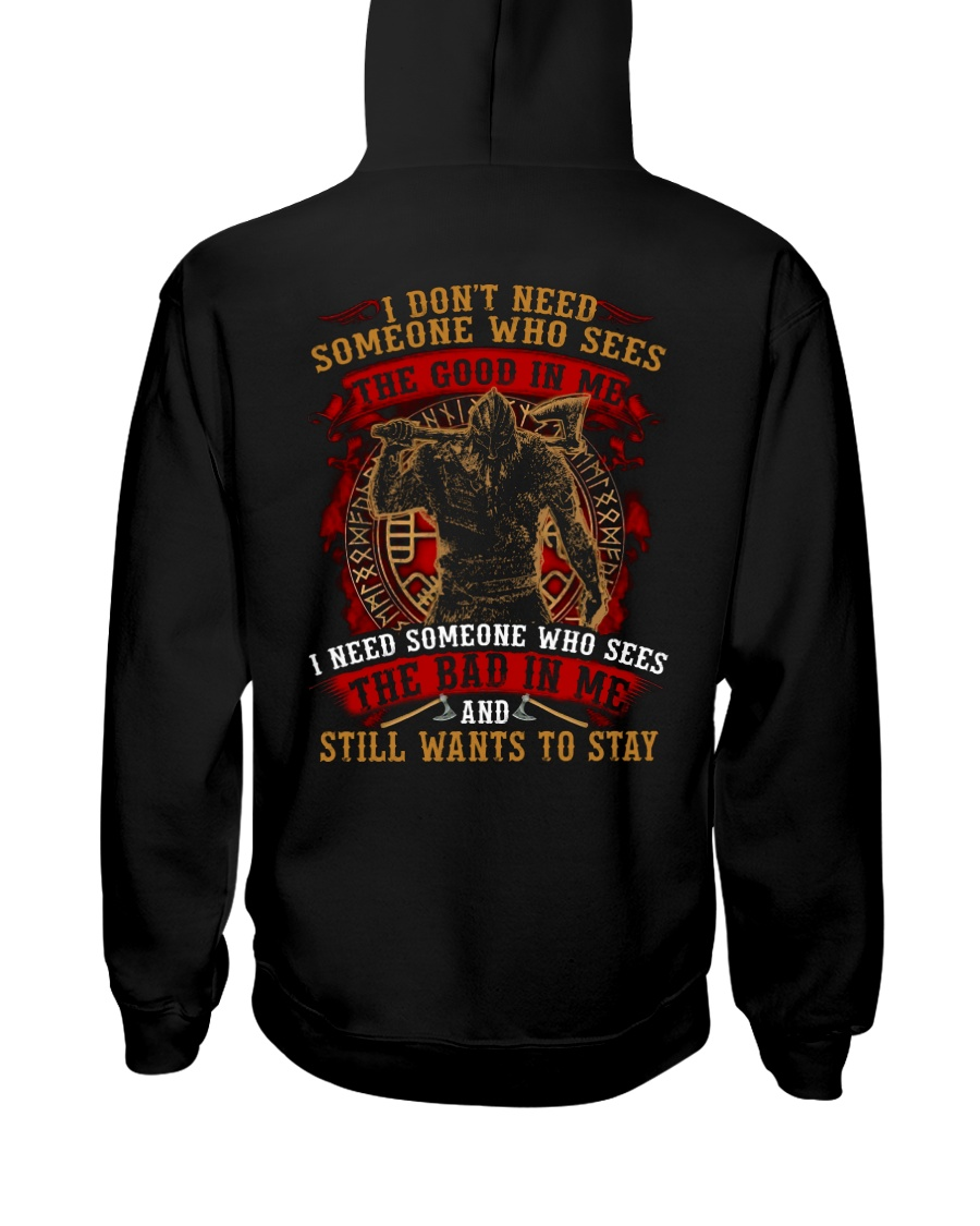 The Bad In Me - Viking Shirt Hooded Sweatshirt