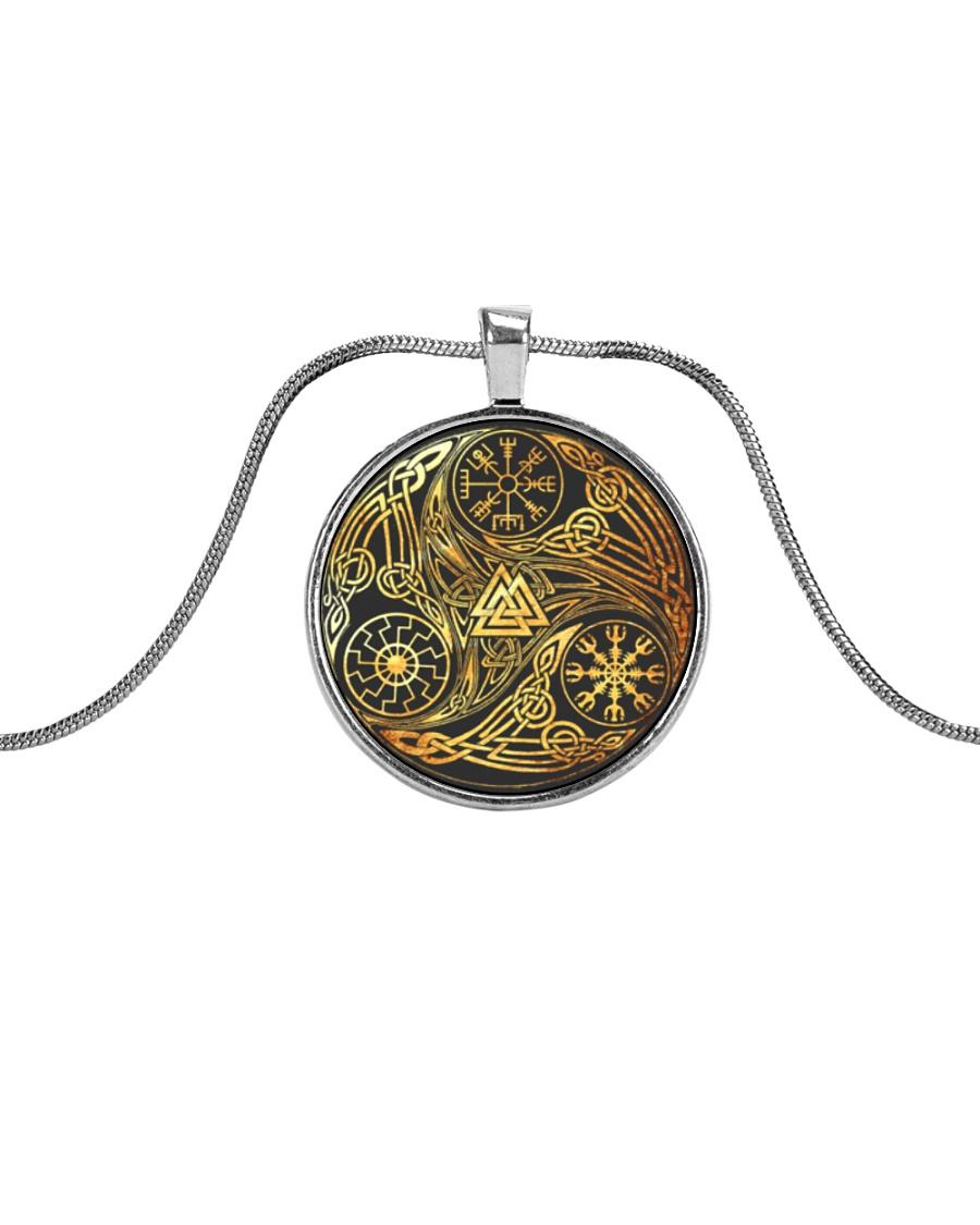 VIKING ZON Metallic Circle Necklace